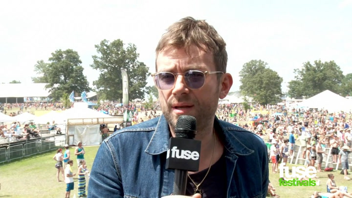 Damon Albarn at Bonnaroo 2014