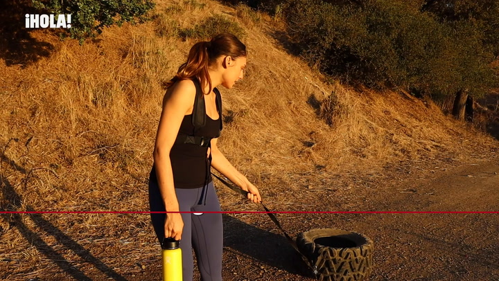 Paulina Villalonga muestra su entrenamiento polar
