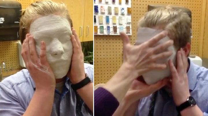 Studentene gipset ansiktet - innså tabben for seint