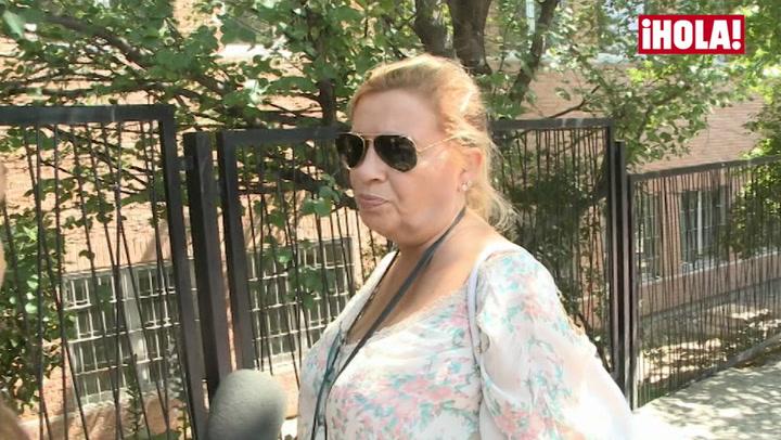 Carmen Borrego, sobre el estado de salud de su madre: \'Está evolucionando a mejor\'