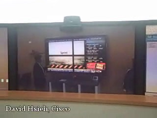 Cisco video surveillance demo through digital signage