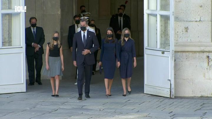La Familia Real preside el homenaje a las víctimas del coronavirus