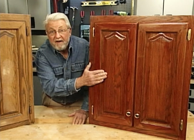 How To Refinish Kitchen Cabinets Without Stripping Ron Hazelton