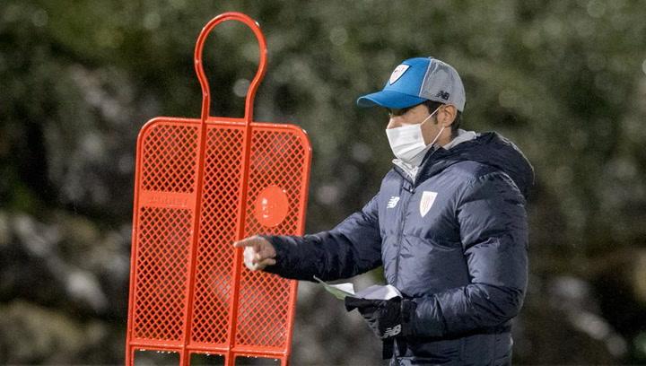 Marcelino ya ejerce en Lezama como entrenador del Athletic