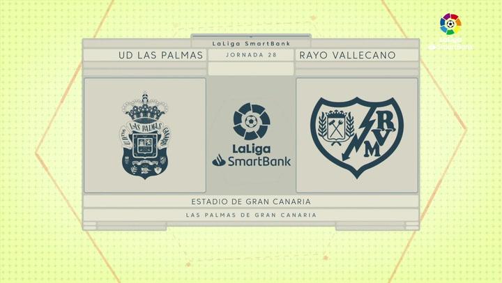 LaLiga SmartBank (J28): Resumen y goles del Las Palmas 1-1 Rayo Vallecano