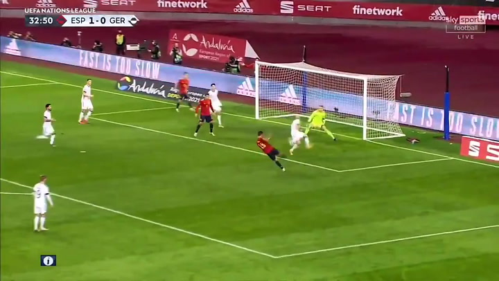 España-Alemania 2-0. Gol de Ferran Torres