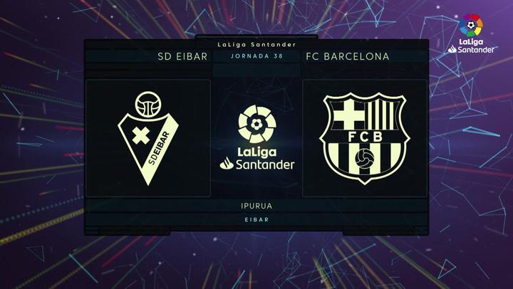 LaLiga (J38): Resumen y gol del Eibar 0-1 Barcelona