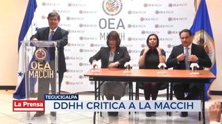 DDHH  critica a la MACCIH