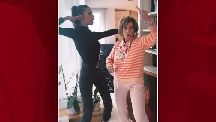 Alejandra Rubio y  María Teresa Campos bailan juntas