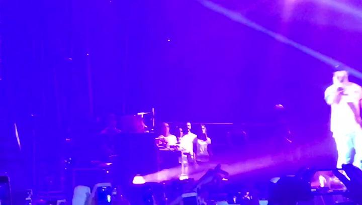 Luis Suárez asistió al concierto de Anuel AA