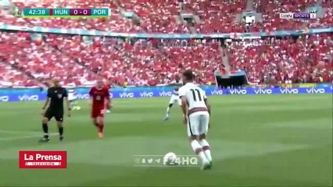 Bajo el arco: La increíble falla de Cristiano Ronaldo en el Portugal - Hungría