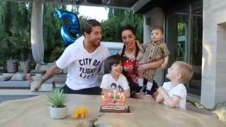 Los Ramos celebran el 5º cumpleaños de Sergio Jr.