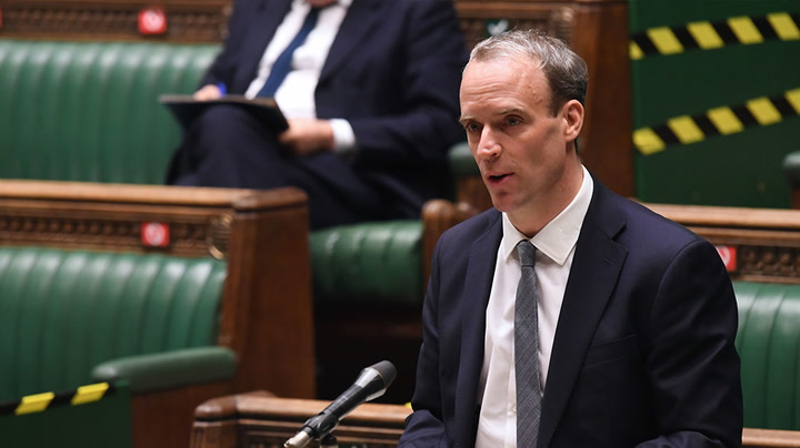 Watch live as Dominic Raab delivers statement on Israel-Palestine conflict