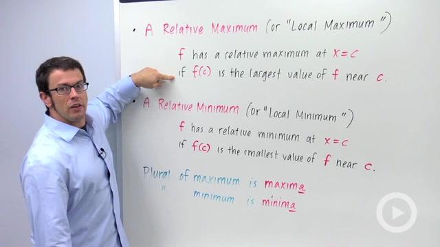 Relative Maxima and Minima