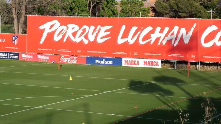 Todo preparado para la vuelta a los entrenamientos del Atlético de Madrid tras el parón por el coronavirus