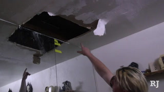 Las Vegas couple endures leaky ceilings in rental home – VIDEO