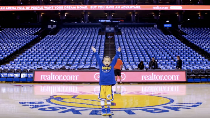The Golden State Warriors' Biggest Little Fan: At Home and on the Court