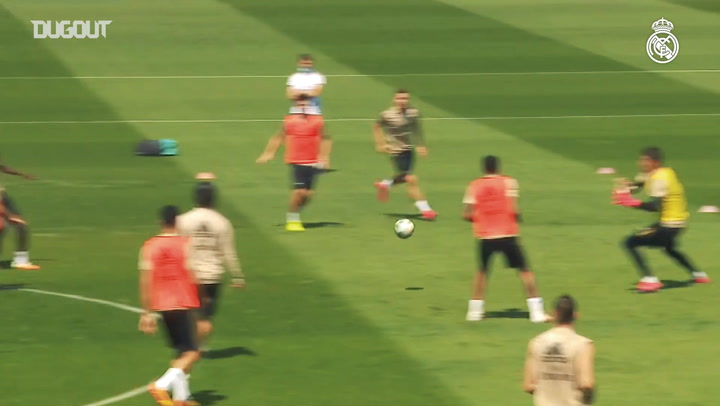 Real Madrid's second session in preparation for Valencia clash