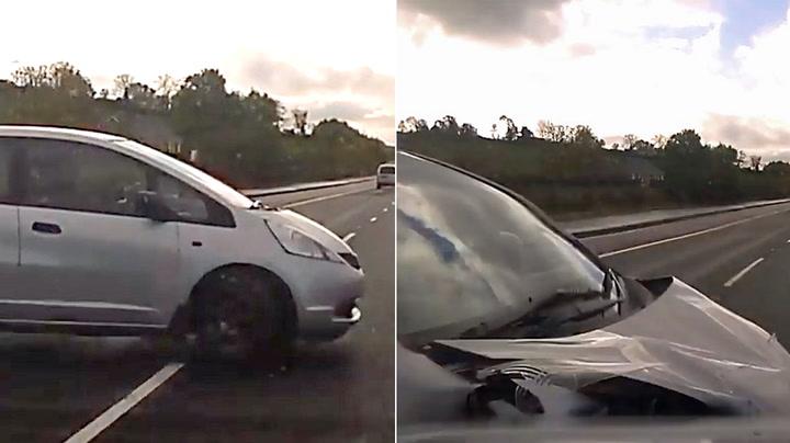 Sjåfør med livsfarlig manøver på motorvei
