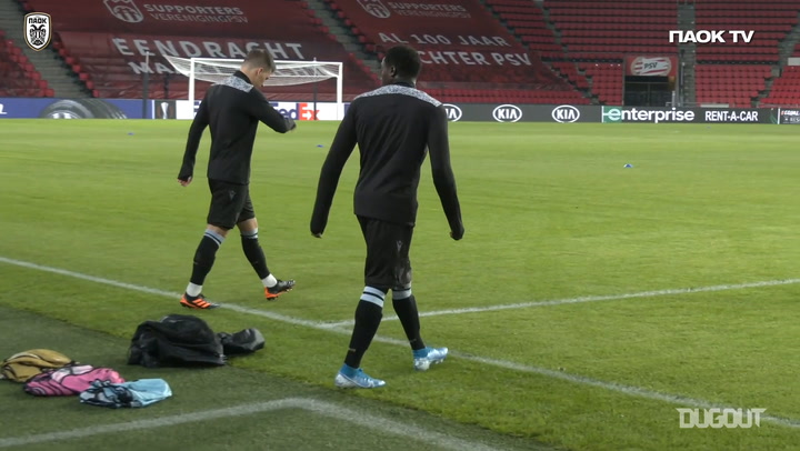 PAOK train at Philips Stadium ahead of Europa League clash