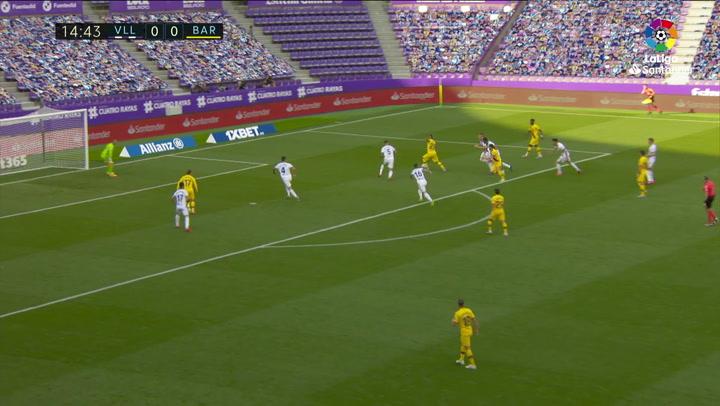 Gol de Arturo Vidal (0-1) en el Valladolid 0-1 Barcelona