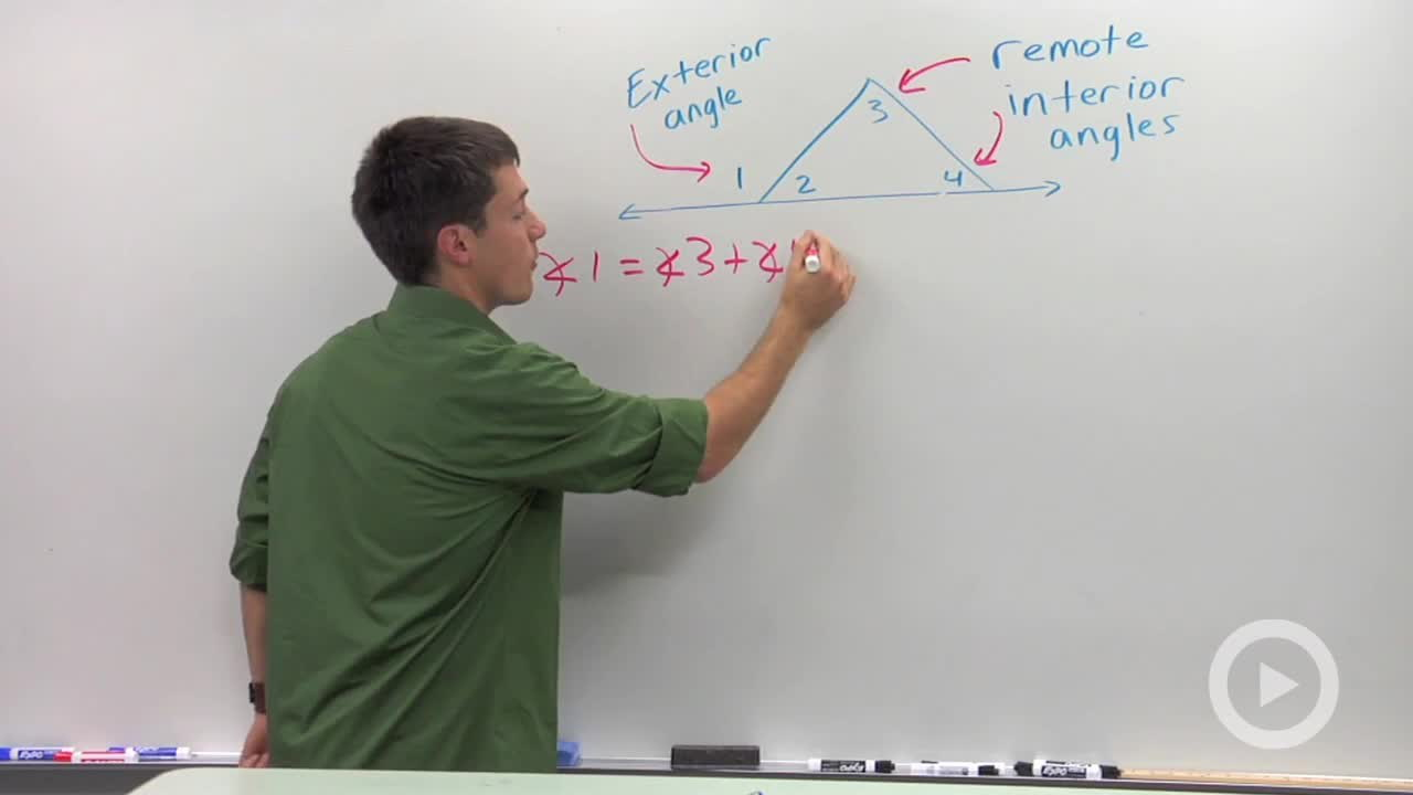 Remote Interior Angles Concept Geometry Video by Brightstorm