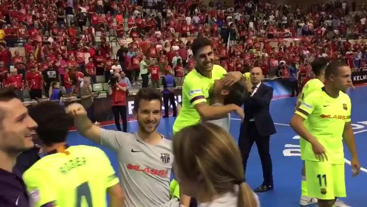 El Barça Lassa fuerza el quinto partido del playoff final ante ElPozo Murcia