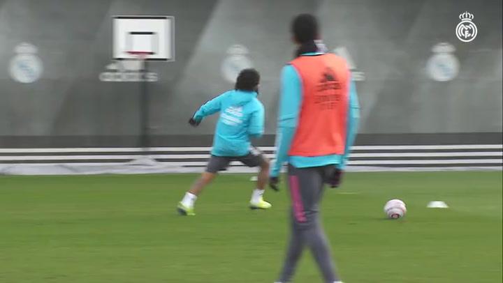El Madrid sigue preparando el decisivo partido contra el Borussia