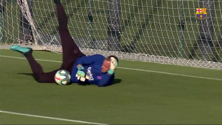 Último entrenamiento antes del Barça-Betis