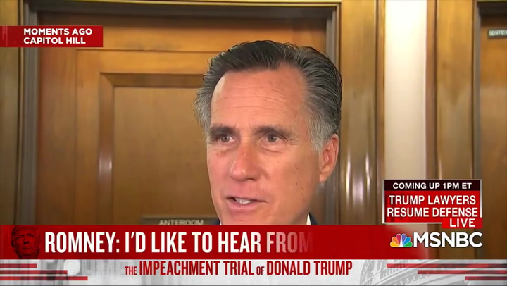 Romney: If One Side Can Call Witnesses, 'the Other Side Ought to Be Able to Do the Same'