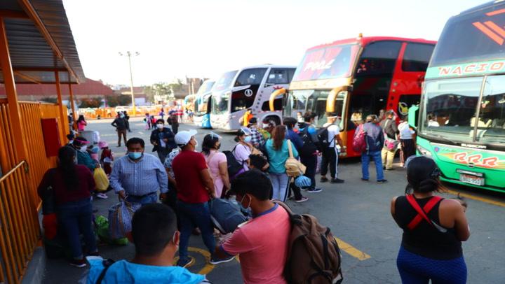 Se reinician los viajes interprovinciales en regiones con alerta extrema desde el 1 de marzo