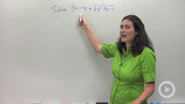Solving Radical Equations - Problem 4