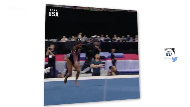 El increíble salto de Simone Biles