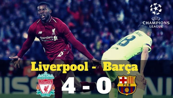 Champions League: Crónica en imágenes del Liverpool-Barça (4-0)