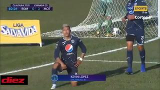 Kevin López anota ante Real de Minas EL 3-0 a pase de crack de Roberto Moreira