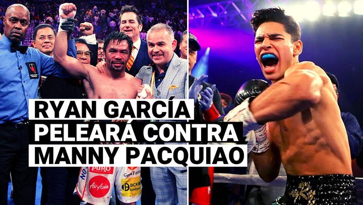 ¡Oficial! Ryan García peleará frente a Manny Pacquiao para este año