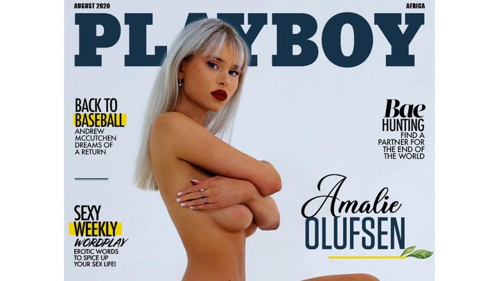 Image: Amalie (22) pryder forsiden av Playboy-magasin