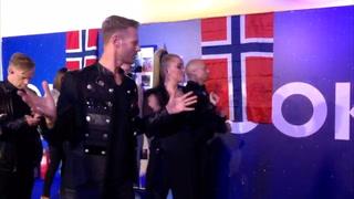 Slik så det ut backstage like før Norges opptreden