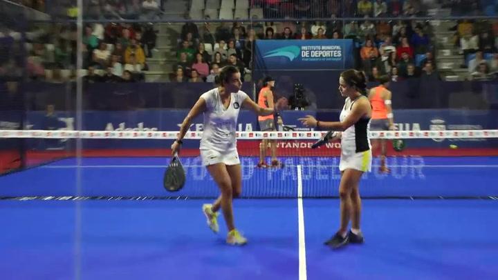 Resumen de la semifinal femenina Triay/Sainz Vs Josemaría/Nogueira del Santander Open