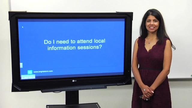 Do I need to attend informational sessions?