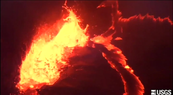 Sjekk lavasjøen på Hawaii