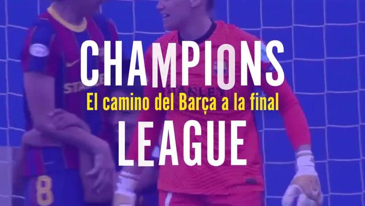 El camino del Barça a la final de la Champions femenina