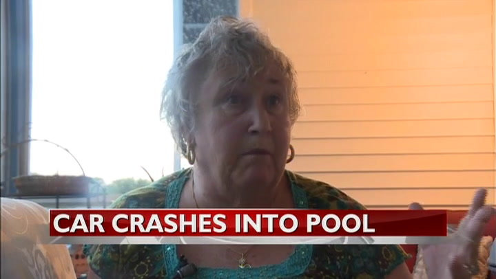 UPDATE: Witness describes car crashing through wall and into pool