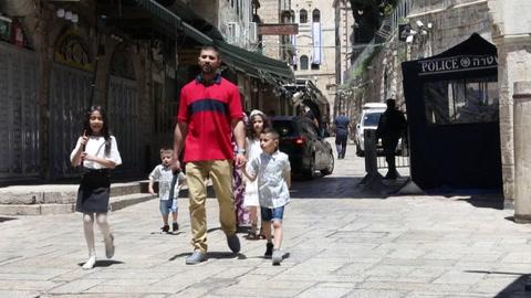 Un fin del ramadán triste en Jerusalén tras la violencia de los últimos días