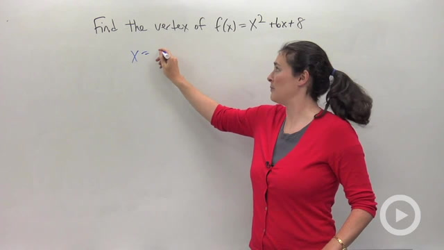 The Vertex and Axis of Symmetry - Problem 1