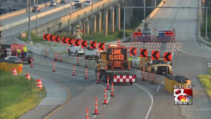 Emergency repairs lead to lane closure by 54/63 near Missouri River Bridge
