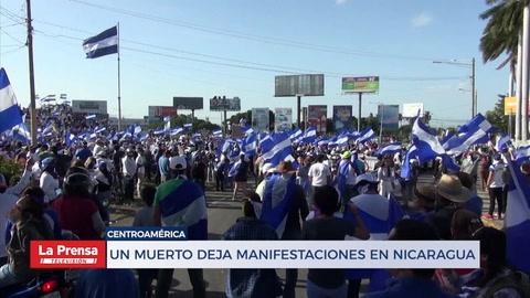 Un muerto deja manifestaciones en Nicaragua