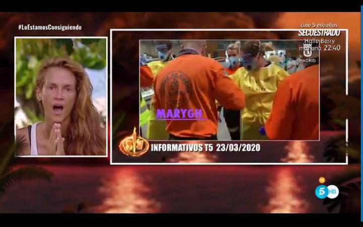 Así se enteró una concursante de 'Supervivientes' de todo lo sucedido en España
