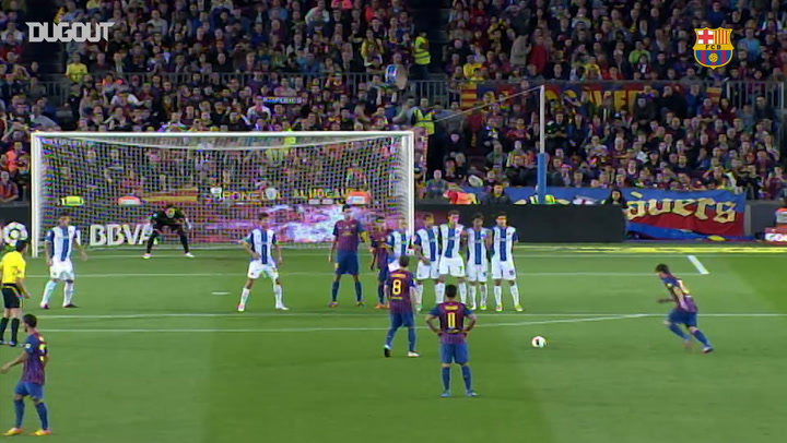Free-Kicks: Leo Messi Vs Espanyol