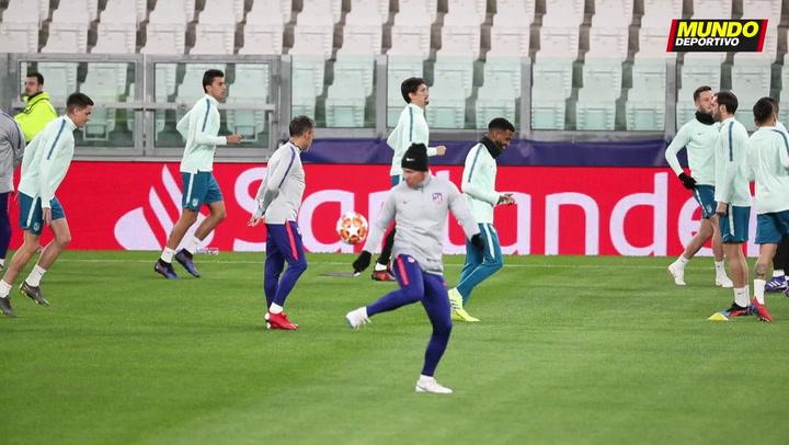 El Atlético de Madrid ya se entrena en el Juventus Stadium